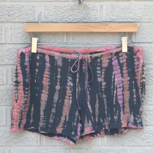 Hard Tail Tie Dye Print Drawstring Shorts